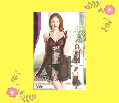 Front open Net lingerie in pakistan