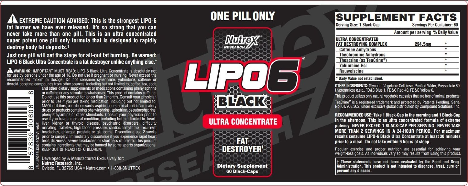 Buy Lipo 6 Black Ultra Concentrate 60 caps in Pakistan